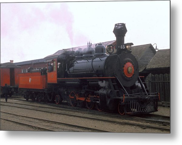 Skunk Train No 45 Fort Bragg California Metal Print