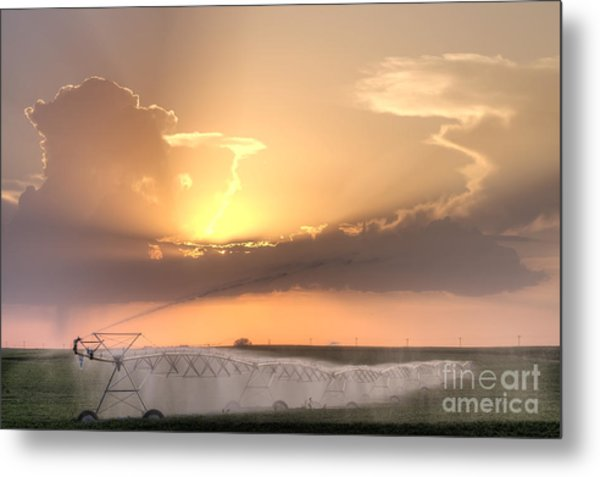 Sky And Water Metal Print