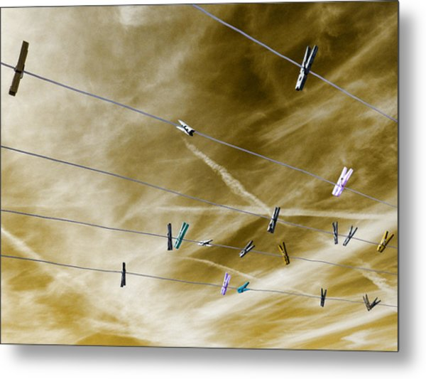 Metal Print featuring the pyrography sky by Artistic Panda