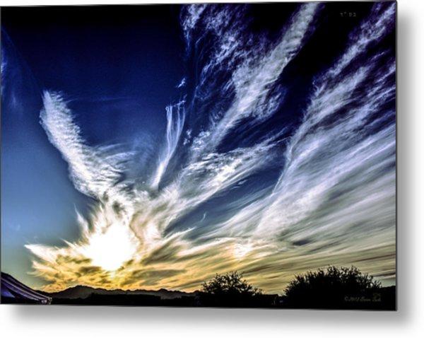 Sky Artistry Over Chandler Arizona Metal Print