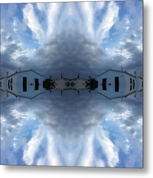 Clouds And Houses I Metal Print
