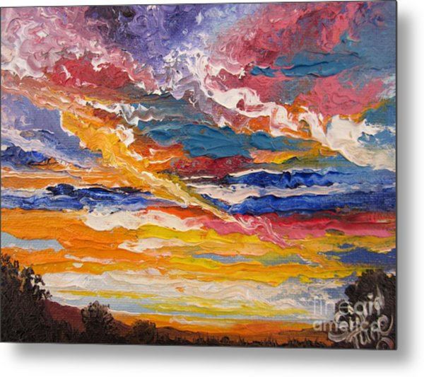 Sky In The Morning.             Sailor Take Warning  Metal Print
