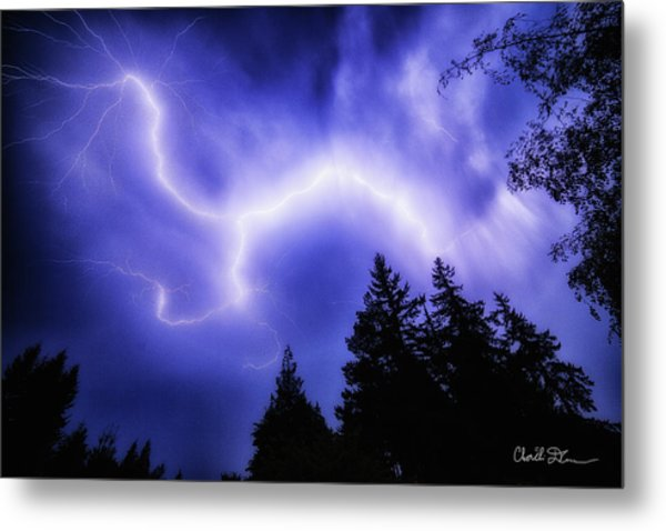 Sky Lightning Metal Print
