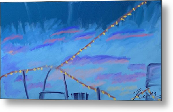 Sky Lights Metal Print