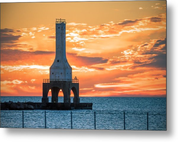Sky On Fire Metal Print
