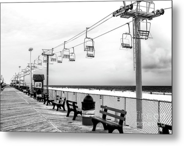 Sky Ride At Seaside Heights Metal Print