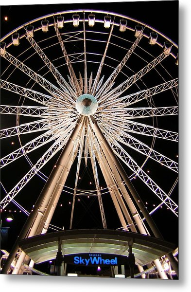 Sky Wheel Metal Print by Heather Weikel