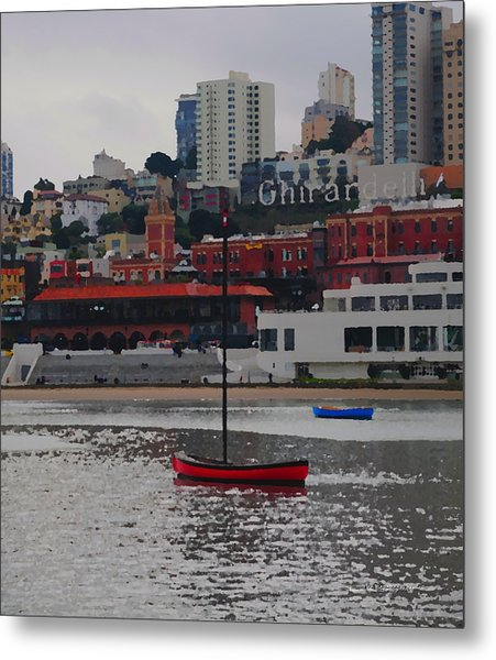 Skyline At The Bay Metal Print