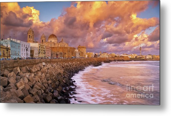 Skyline From Campo Del Sur Cadiz Spain Metal Print