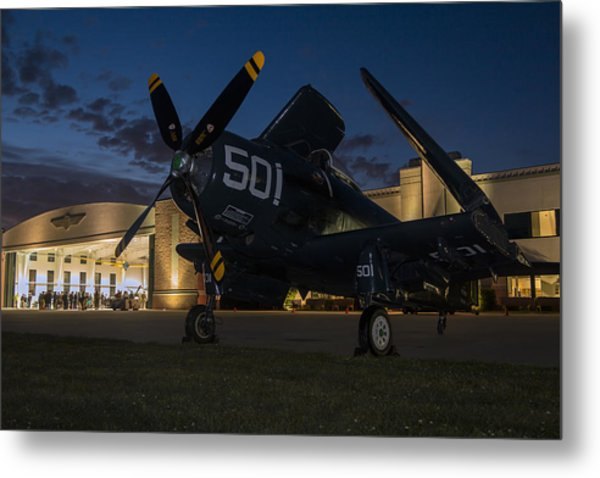 Skyraider Night Metal Print