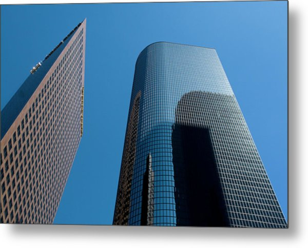 Metal Print featuring the photograph Skyscrapers Reflect Los Angeles by Lorraine Devon Wilke