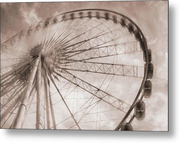 Skywheel In Niagara Falls Metal Print