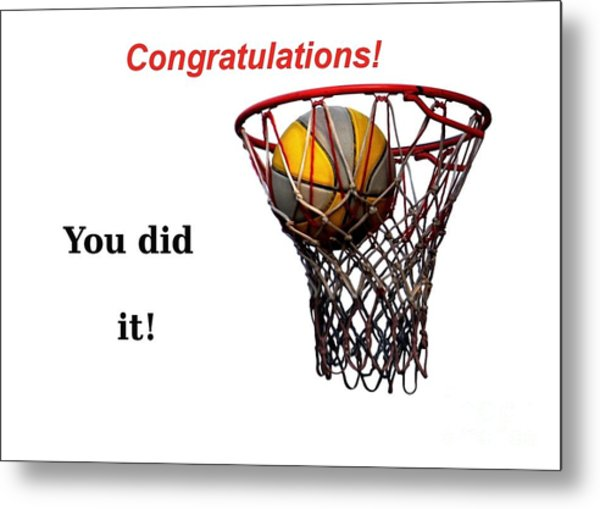 Slam Dunk Congratulations Greeting Card Metal Print
