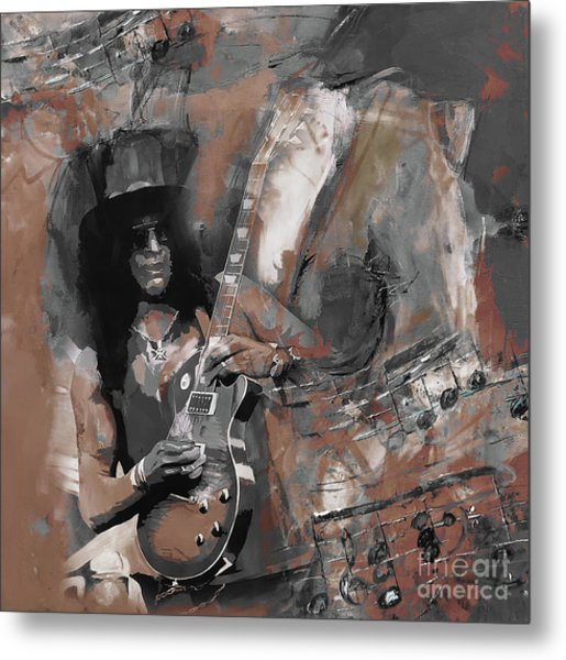 Slash Guns And Roses  Metal Print