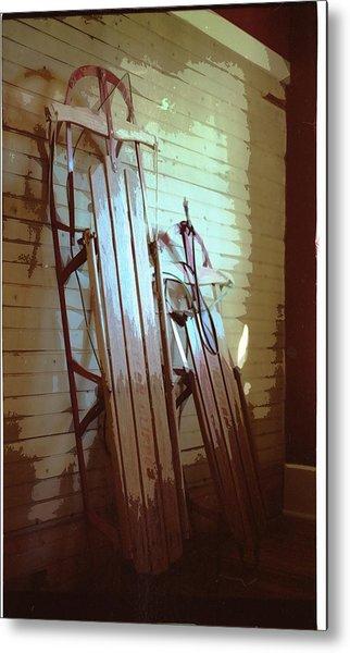 Sleds Metal Print by Michael Morrison