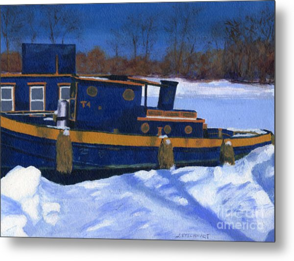 Sleeping Barge Metal Print