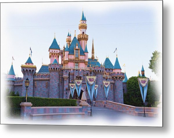Sleeping Beauty's Castle Disneyland Metal Print