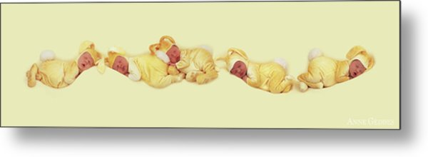 Sleeping Bunnies Metal Print