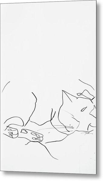 Sleeping Cat II Metal Print