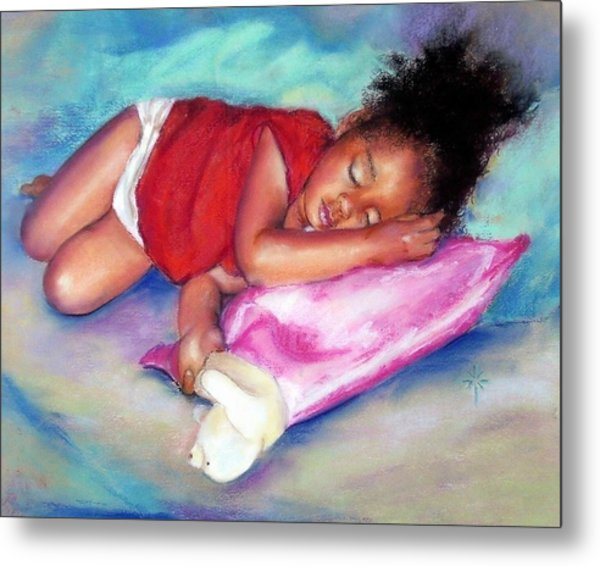 Sleeping On A Cloud Metal Print