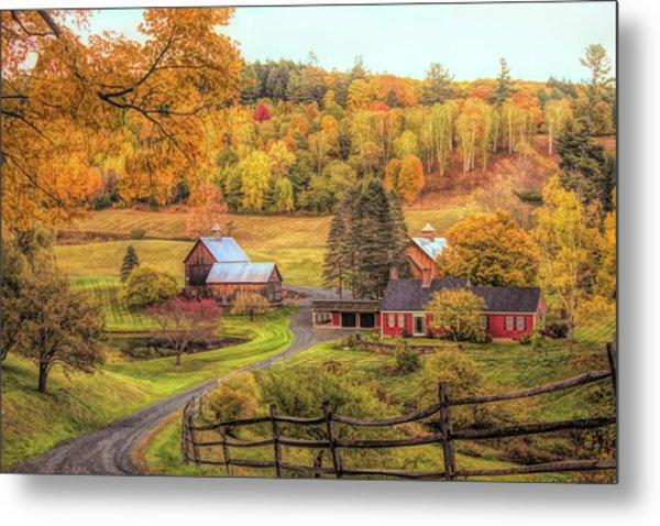 Sleepy Hollow - Pomfret Vermont In Autumn Metal Print