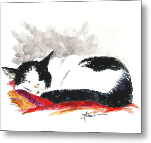 Sleepy Time Boy Metal Print