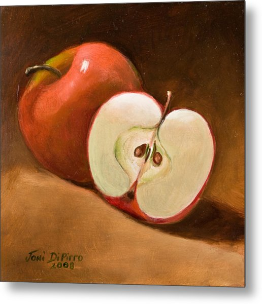 Sliced Apple Metal Print by Joni Dipirro