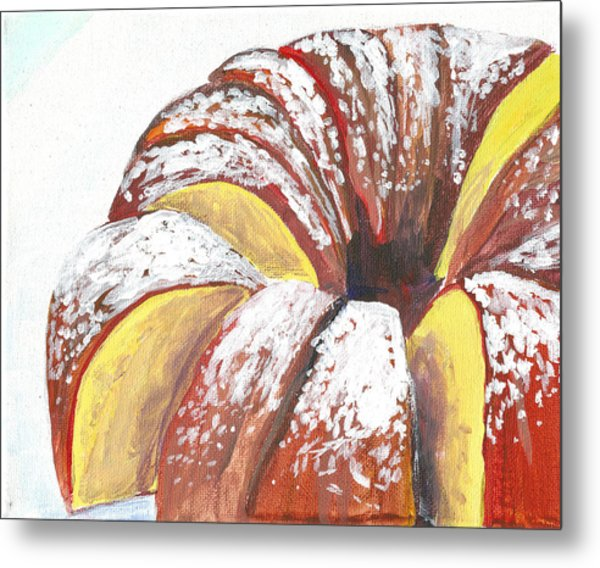 Sliced Bundt Cake Metal Print