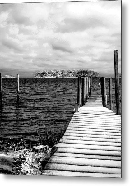 Slippery Dock Metal Print