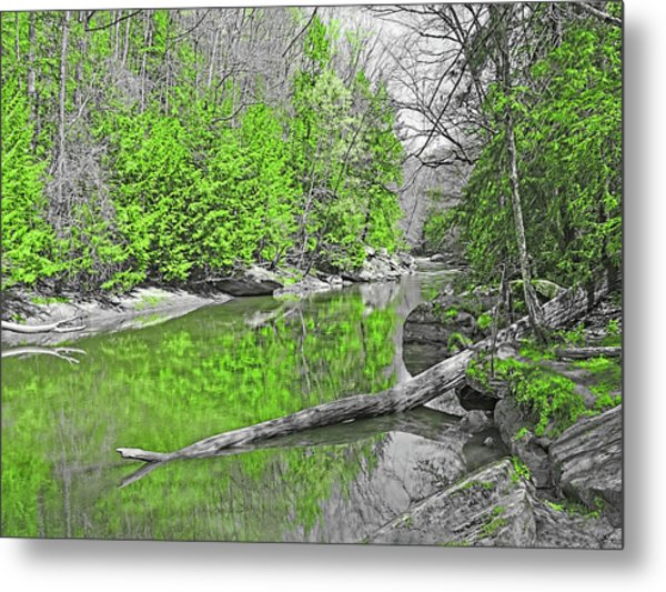 Metal Print featuring the photograph Slippery Rock Creek In Spring by Digital Photographic Arts
