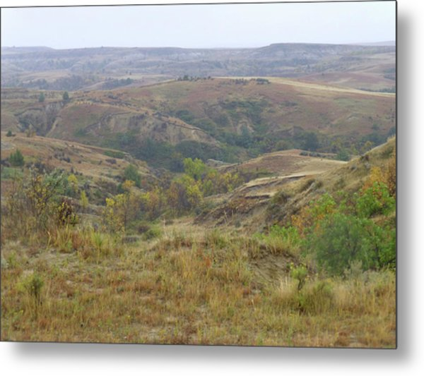Slope County In The Rain Metal Print