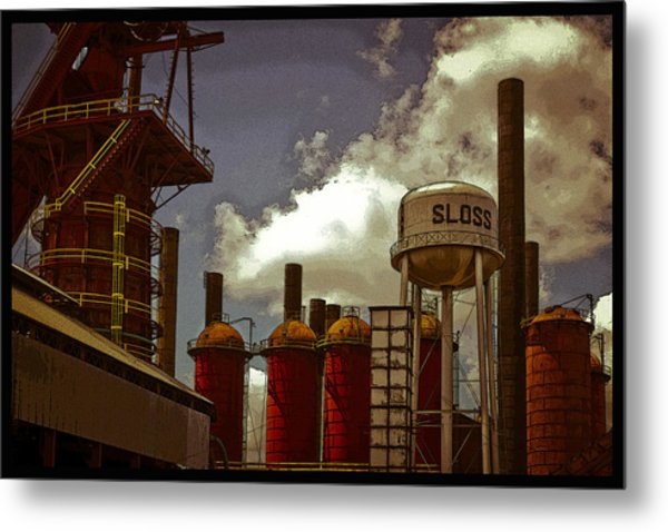 Sloss Furnace Poster Metal Print