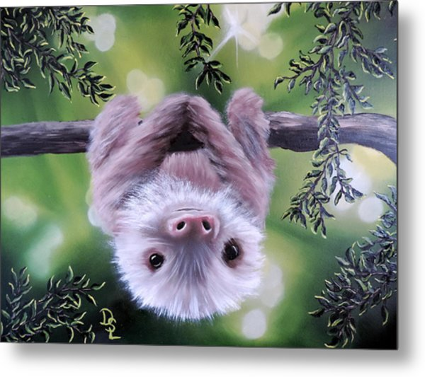 Sloth'n 'around Metal Print