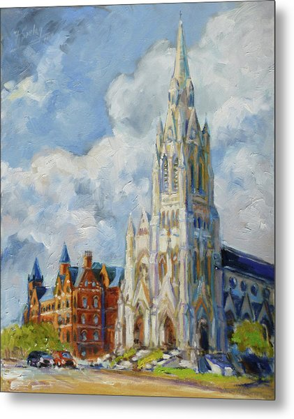 Slu - Grand And Lindell, Saint Louis Metal Print