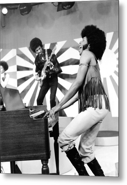 Sly And The Family Stone Performing Metal Print by Everett