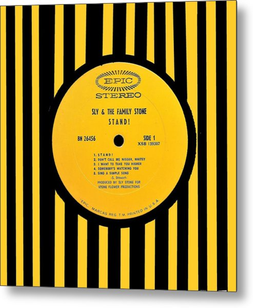 Sly And The Family Stone Stand Lp Label Metal Print
