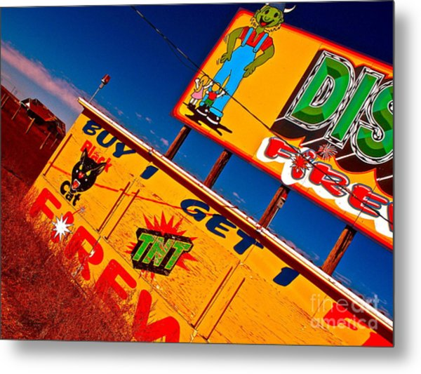 Small Business Last Stand Metal Print by Chuck Taylor