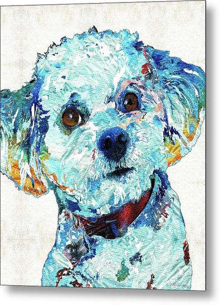Small Dog Art - Who Me? - Sharon Cummings Metal Print