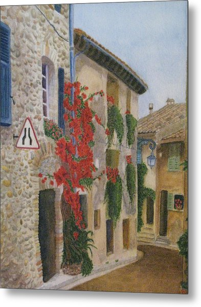 Small French Village Metal Print by Barbara Pascal
