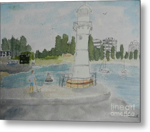 Small Lighthouse One Belmore Basin Metal Print