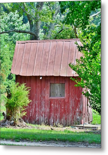 Small Red Barn - Lewes Delaware Metal Print