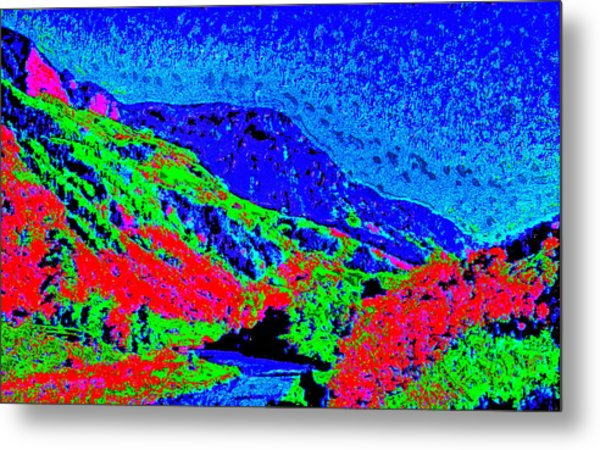 Small River Valley D3 Metal Print by Modified Image
