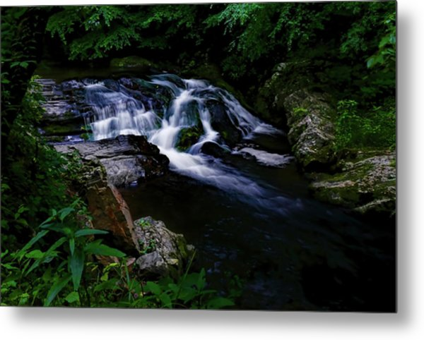 Small Waterfall  Metal Print by Elijah Knight