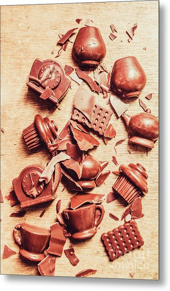 Smashing Chocolate Fondue Party Metal Print