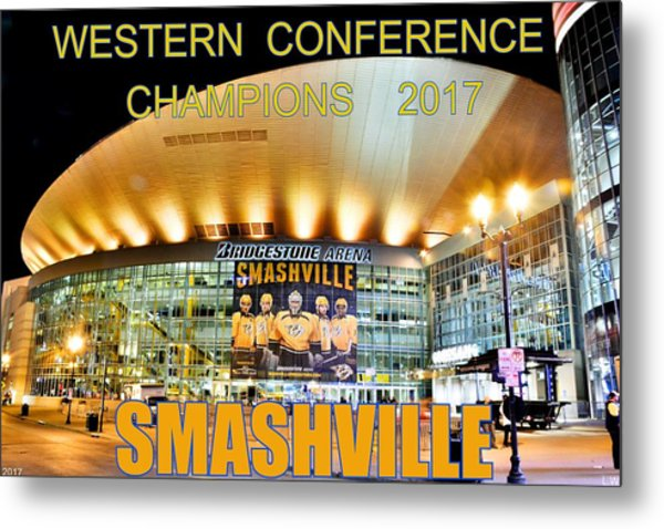 Metal Print featuring the photograph Smashville Western Conference Champions 2017 by Lisa Wooten