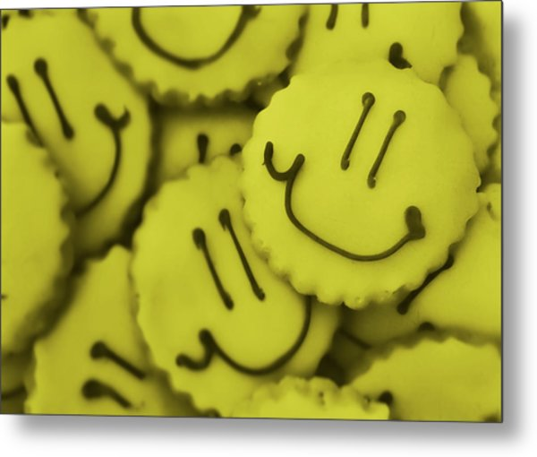 Smiley Face Metal Print by JAMART Photography