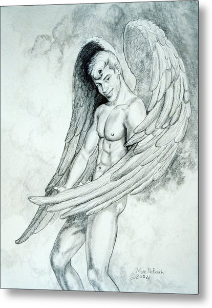 Smiling Angel Metal Print