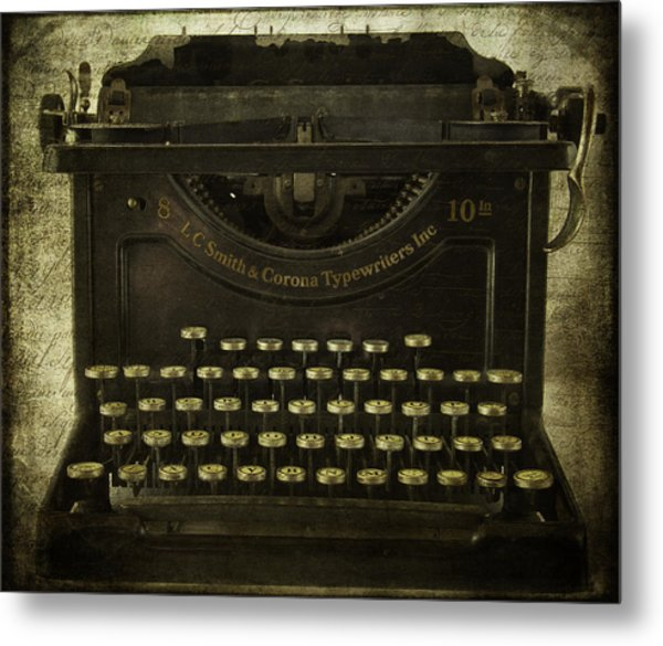 Smith And Corona Typewriter Metal Print