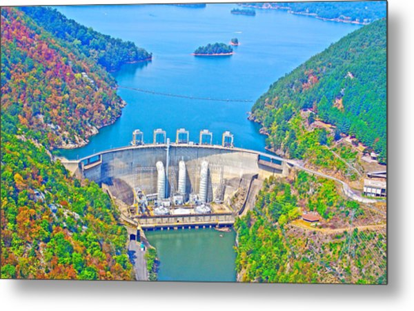 Smith Mountain Lake Dam Metal Print