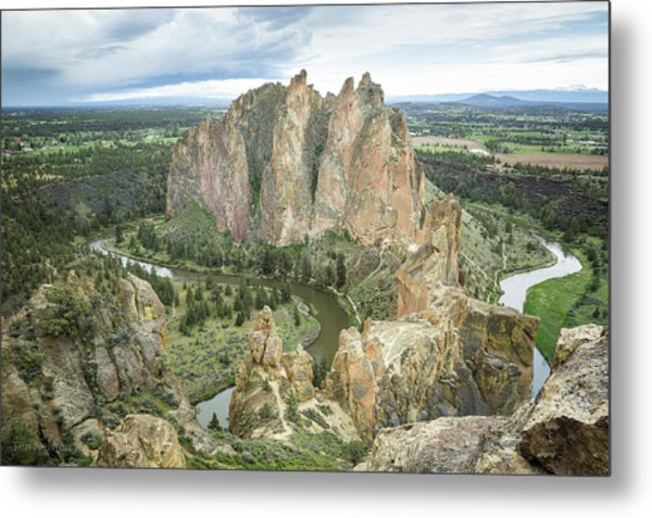 Metal Print featuring the photograph Smith Rock From Misery Ridge by Tim Newton